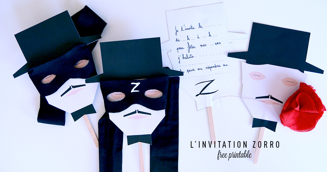 L'INVITATION ZORRO #free printable
