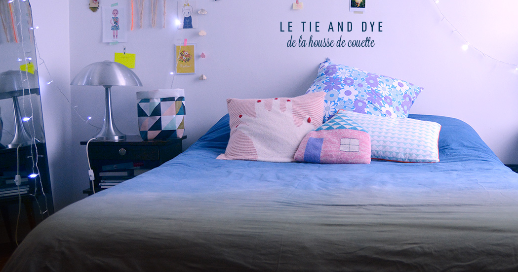 le tie and dye de la housse de couette diy minireyve. Black Bedroom Furniture Sets. Home Design Ideas