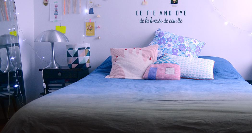 le tie and dye de la housse de couette diy minireyveminireyve. Black Bedroom Furniture Sets. Home Design Ideas