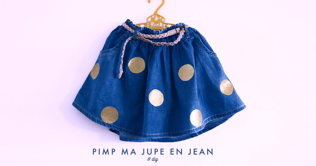 PIMP MA JUPE EN JEAN #DIY