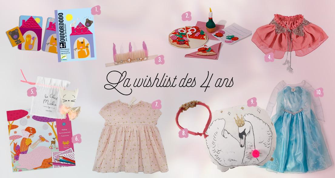 LA WISHLIST DES 4 ANS