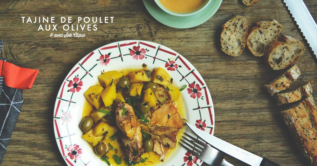 Le tajine de poulet aux olives, facile et rapide