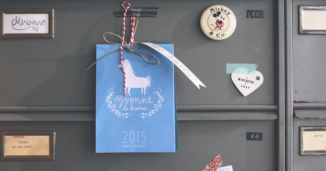 LE CALENDRIER 2015 #free printable