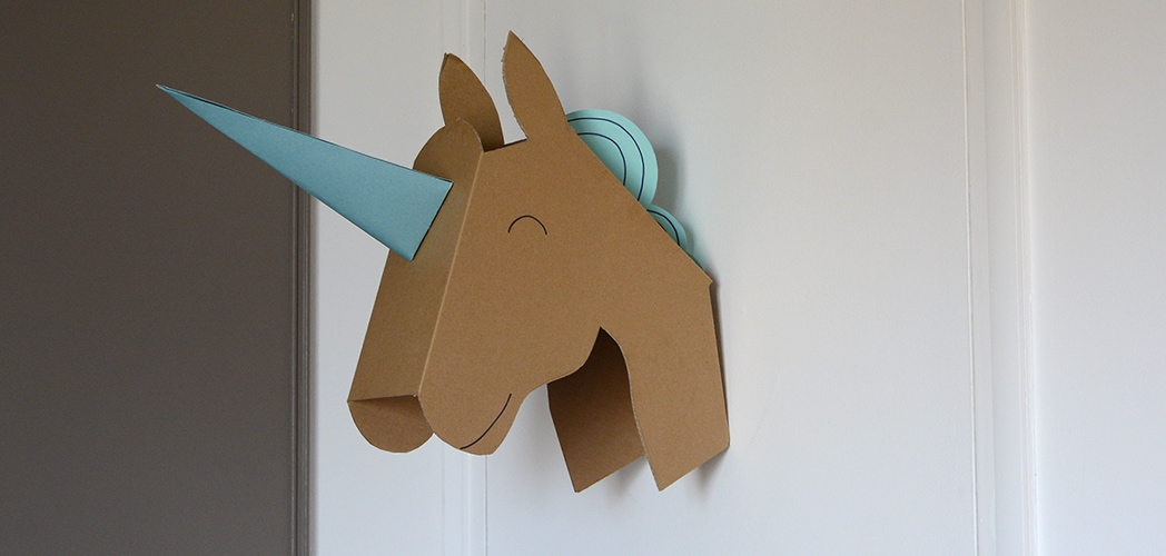 Un troph e licorne diy minireyve for Decoration murale tete animaux