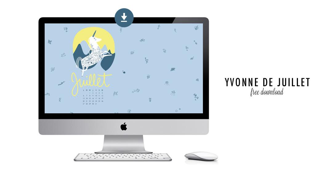 YVONNE DE JUILLET #free printable
