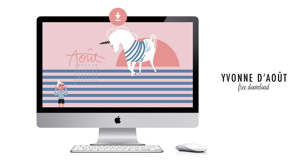 YVONNE D'AOÛT #free printable