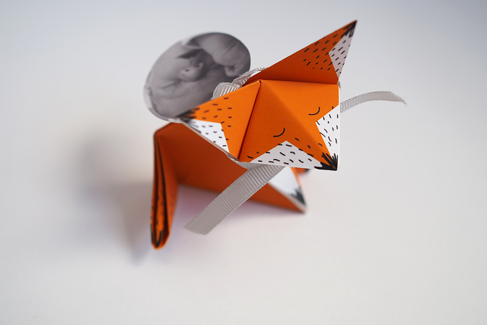 faire part bapteme origami