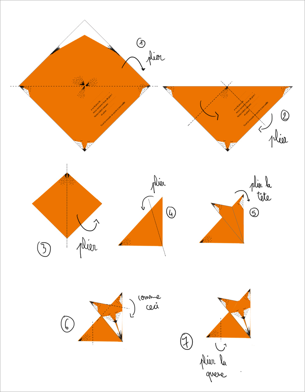 Le faire part en origami minireyve - Comment faire origami ...