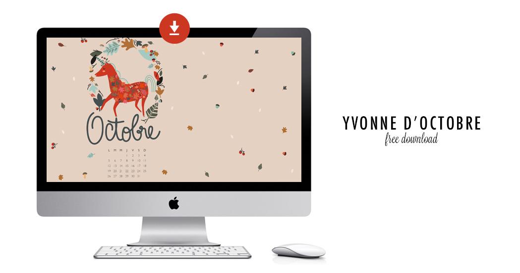 YVONNE D'OCTOBRE #free printable