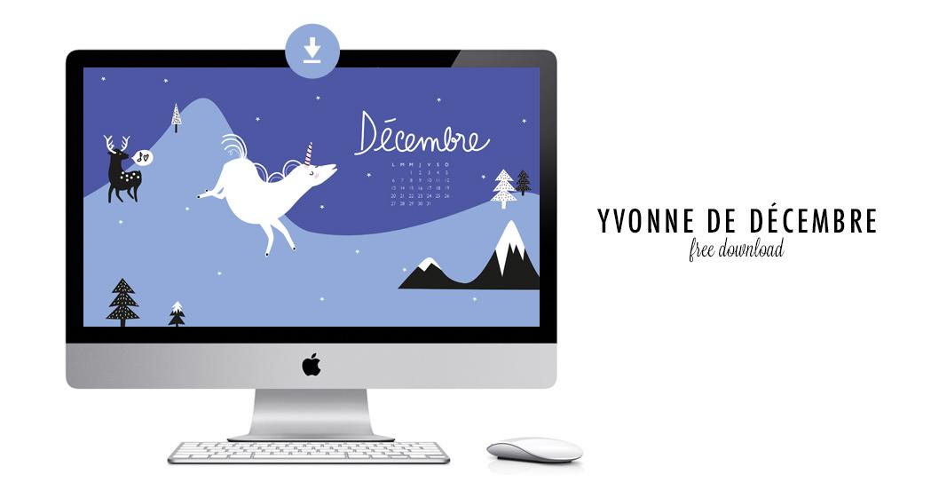 YVONNE DE DÉCEMBRE #free printable