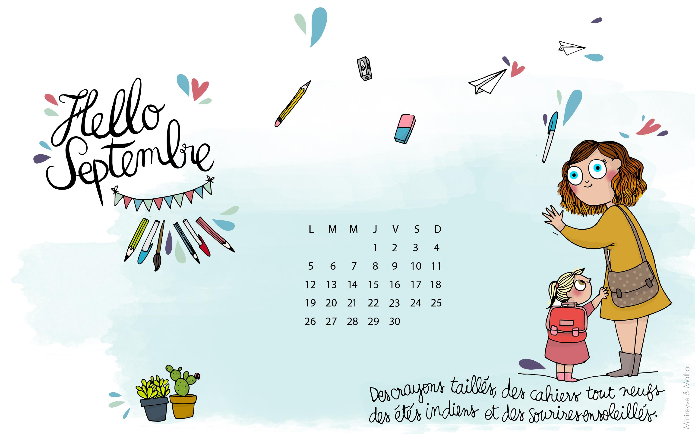 Hello septembre avec mathou minireyve for Fond ecran novembre