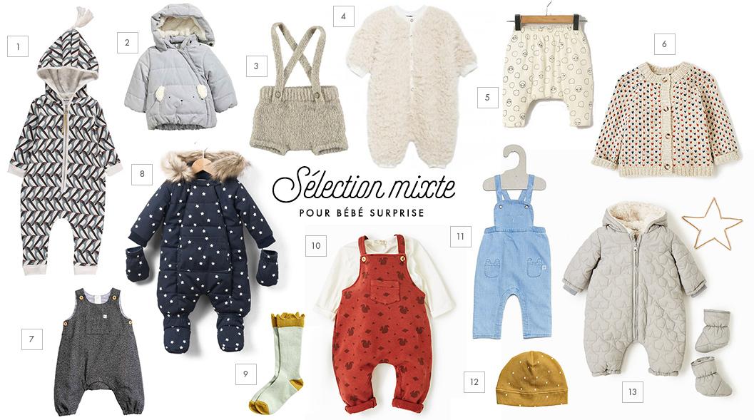 selection mixte pour bébé surprise