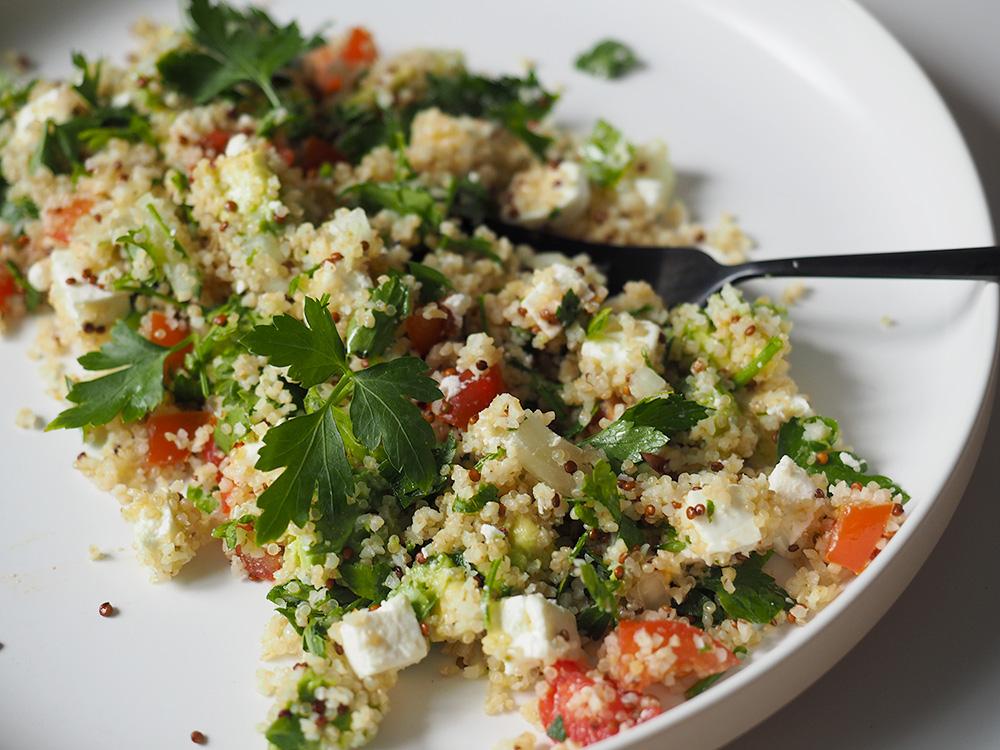 salade quinoa feta avocat vite fait bien fait minireyve. Black Bedroom Furniture Sets. Home Design Ideas