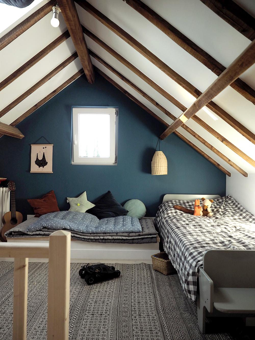 Chambre Parentale Bleu Canard une chambre sous les toits - minireyve