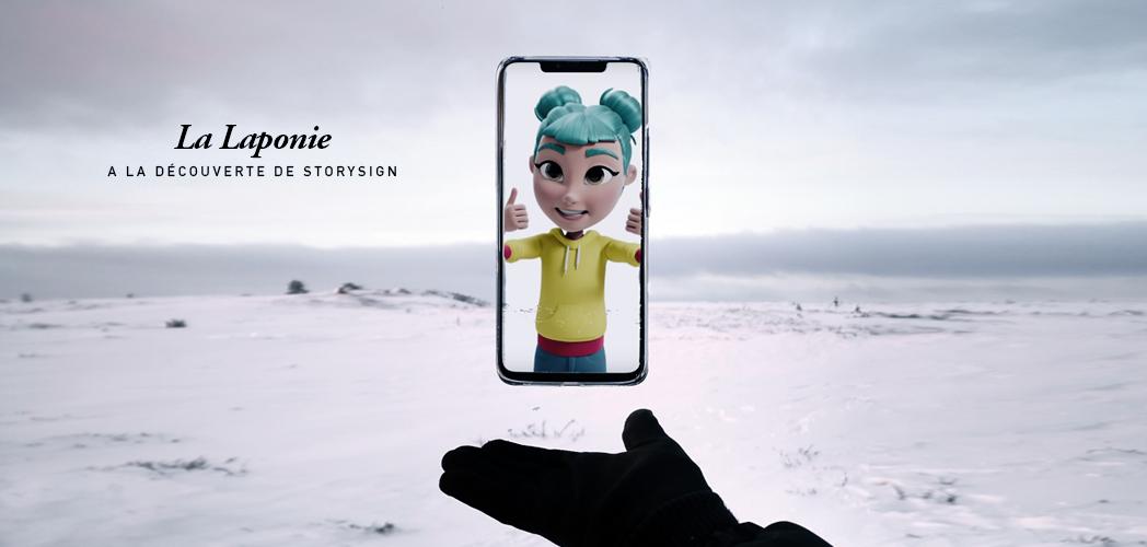LA LAPONIE AU CŒUR DE STORYSIGN by Huawei