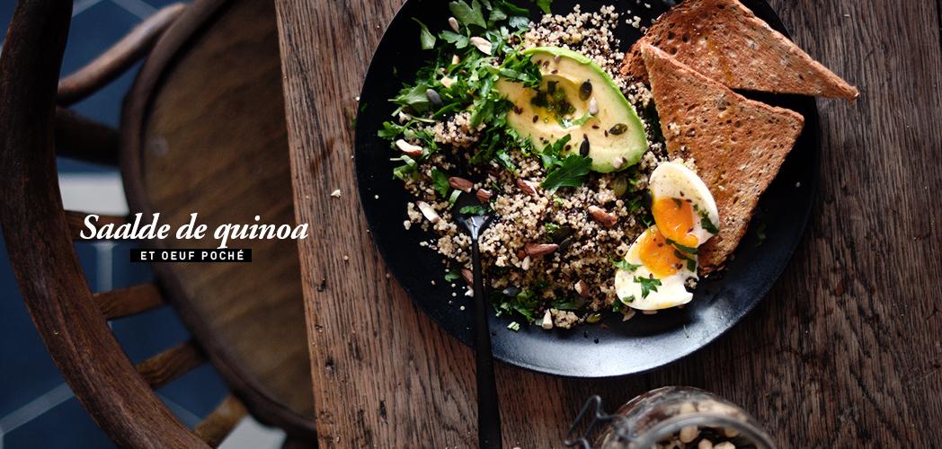 Salade Quinoa et Oeuf poché !