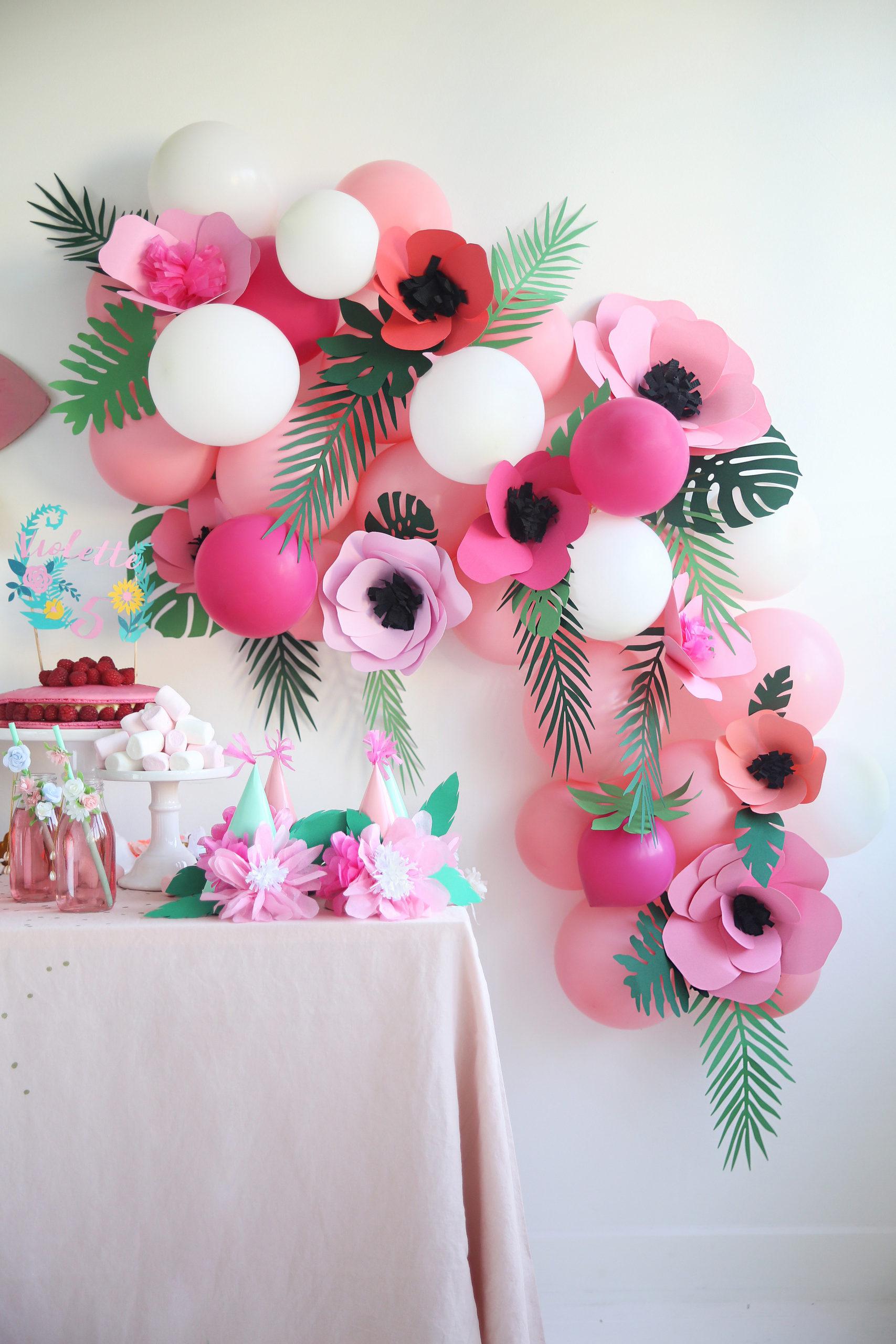 fête anniversaire fleurs