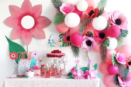Organiser une fête d'anniversaire fleurs !