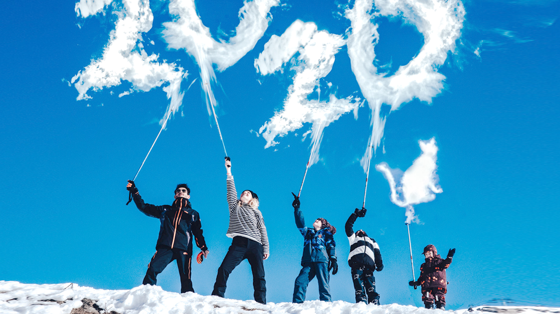 Les Minireyve font du Ski aux Menuires