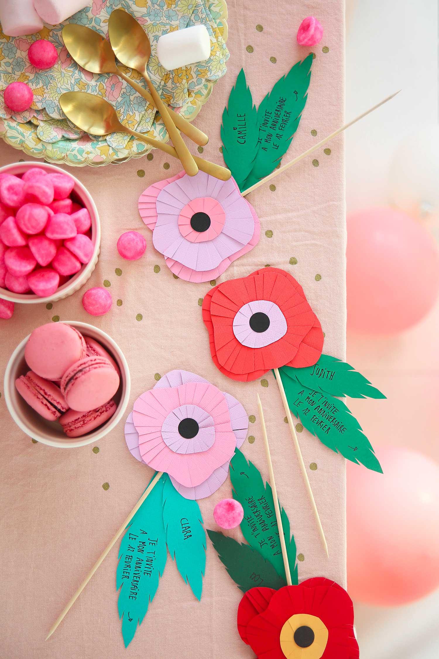 DIY invitation fleurs