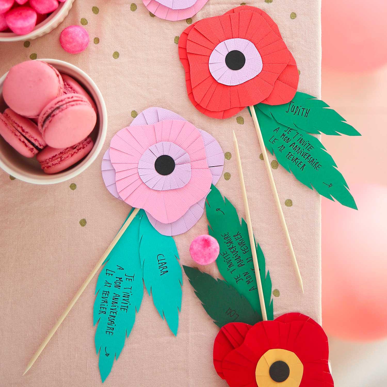 DIY invitation fleur